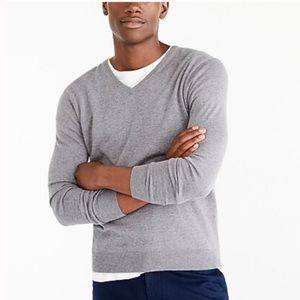 J. Crew perfect merino wool grey v-neck sweater